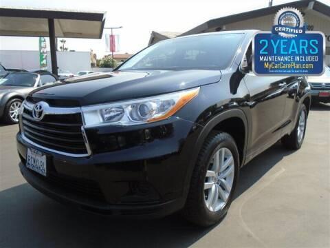 2014 Toyota Highlander for sale at Centre City Motors in Escondido CA