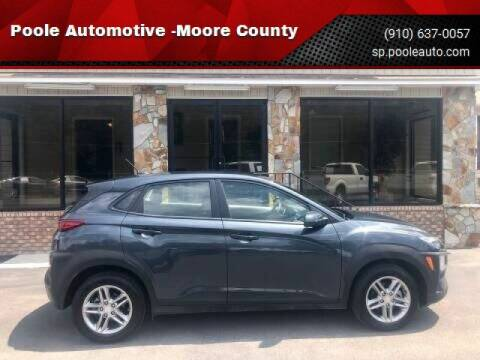2019 Hyundai Kona for sale at Poole Automotive in Laurinburg NC
