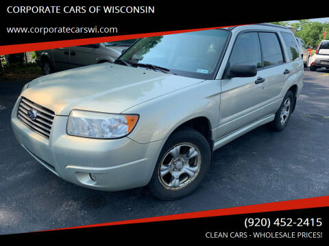 2006 Subaru Forester for sale at CORPORATE CARS OF WISCONSIN in Sheboygan WI