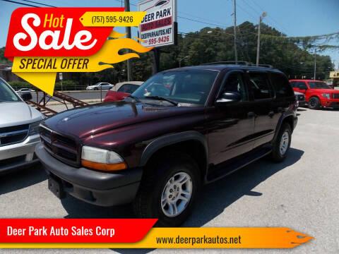 2003 Dodge Durango for sale at Deer Park Auto Sales Corp in Newport News VA