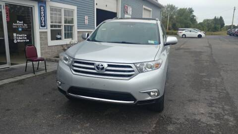 2012 Toyota Highlander for sale at Pool Auto Sales Inc in Spencerport NY