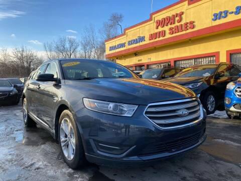 2017 Ford Taurus for sale at Popas Auto Sales in Detroit MI