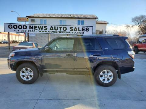 2020 Toyota 4Runner for sale at GOOD NEWS AUTO SALES in Fargo ND