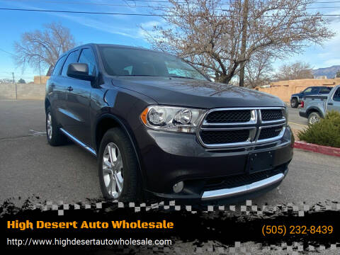 2013 Dodge Durango for sale at High Desert Auto Wholesale in Albuquerque NM