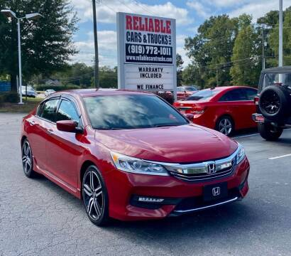 2016 Honda Accord for sale at Reliable Cars & Trucks LLC in Raleigh NC