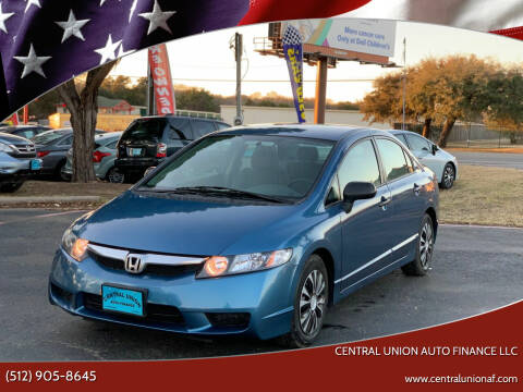2009 Honda Civic for sale at Central Union Auto Finance LLC in Austin TX