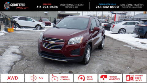 2016 Chevrolet Trax for sale at Quattro Motors 2 in Farmington Hills MI