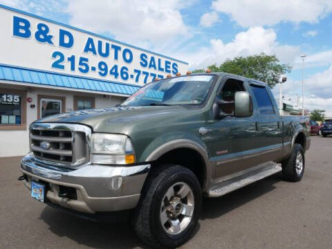 2004 Ford F-250 Super Duty for sale at B & D Auto Sales Inc. in Fairless Hills PA