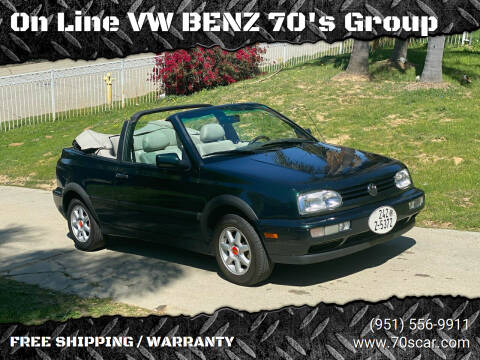 1998 Volkswagen Cabrio for sale at On Line VW BENZ 70's Group in Warehouse CA