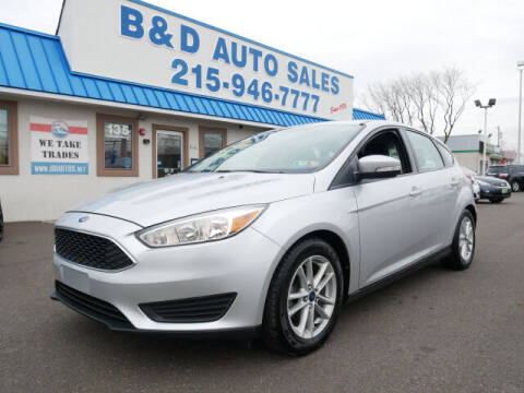 2016 Ford Focus for sale at B & D Auto Sales Inc. in Fairless Hills PA