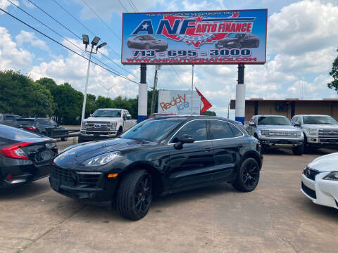 2016 Porsche Macan for sale at ANF AUTO FINANCE in Houston TX