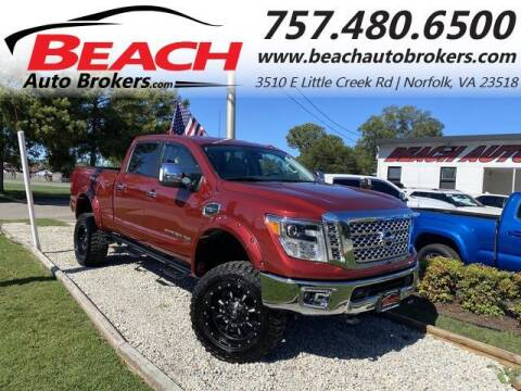 2018 Nissan Titan XD for sale at Beach Auto Brokers in Norfolk VA