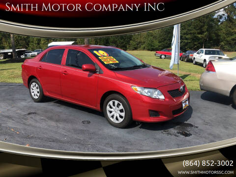 2010 Toyota Corolla for sale at Smith Motor Company INC in Mc Cormick SC