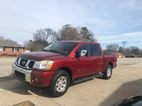 2005 Nissan Titan for sale at E Motors LLC in Anderson SC