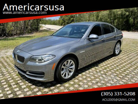 2014 BMW 5 Series for sale at Americarsusa in Hollywood FL