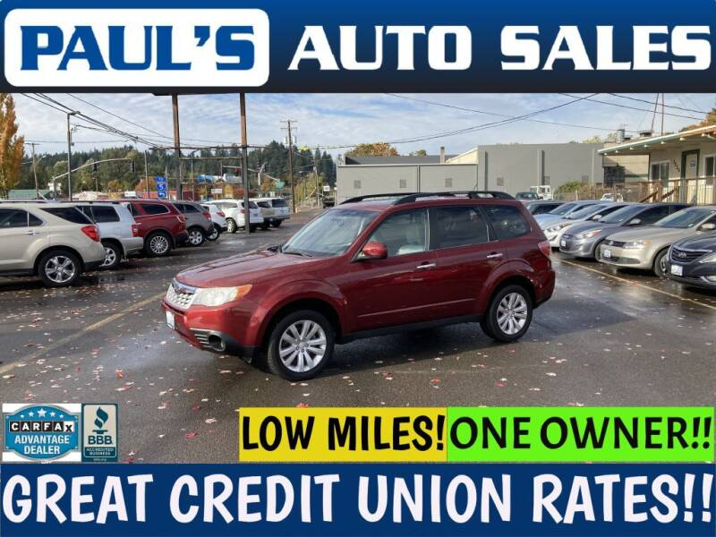 2011 Subaru Forester for sale at Paul's Auto Sales in Eugene OR
