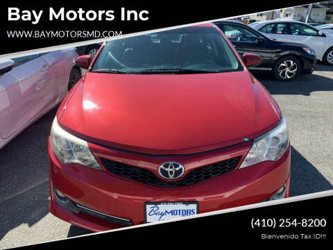 2012 Toyota Camry for sale at Bay Motors Inc in Baltimore MD