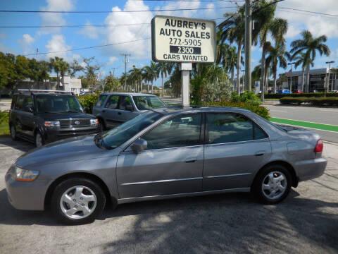 2000 Honda Accord for sale at Aubrey's Auto Sales in Delray Beach FL