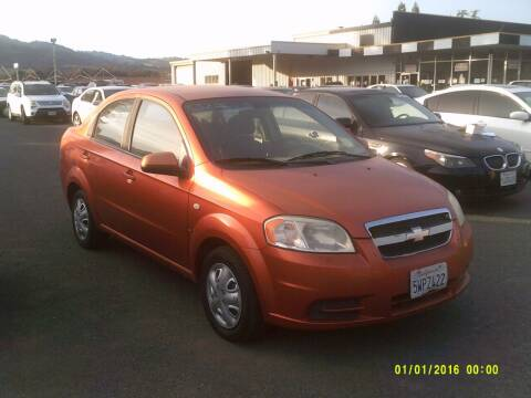 2007 Chevrolet Aveo for sale at Mendocino Auto Auction in Ukiah CA