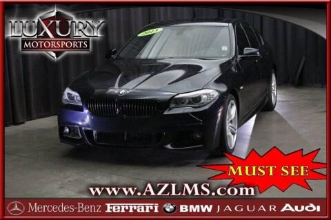 2013 BMW 5 Series for sale at Luxury Motorsports in Phoenix AZ