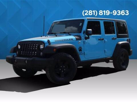 2017 Jeep Wrangler Unlimited for sale at BIG STAR HYUNDAI in Houston TX