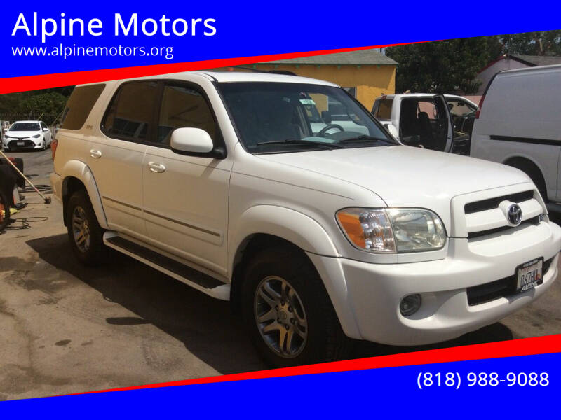 2007 Toyota Sequoia for sale at Alpine Motors in Van Nuys CA