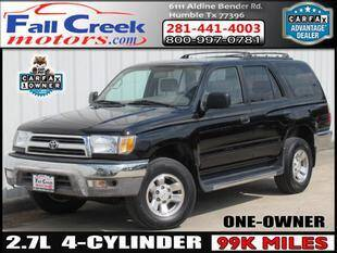 1999 Toyota 4Runner for sale at Fall Creek Motor Cars in Humble TX