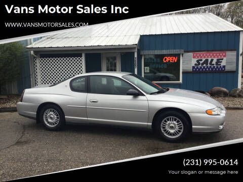 2001 Chevrolet Monte Carlo for sale at Vans Motor Sales Inc in Traverse City MI