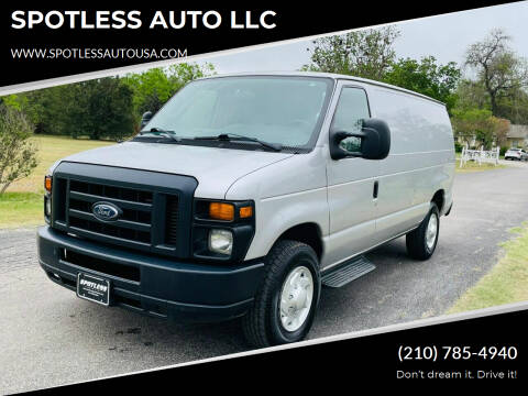 2013 Ford E-Series Cargo for sale at SPOTLESS AUTO LLC in San Antonio TX