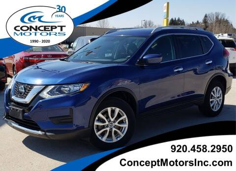 2018 Nissan Rogue for sale at CONCEPT MOTORS INC in Sheboygan WI