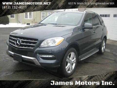 2015 Mercedes-Benz M-Class for sale at James Motors Inc. in East Longmeadow MA
