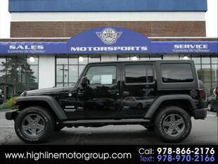 2014 Jeep Wrangler Unlimited for sale at Highline Group Motorsports in Lowell MA