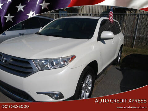 2012 Toyota Highlander for sale at Auto Credit Xpress in North Little Rock AR