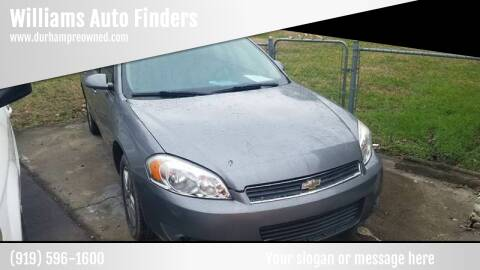 2007 Chevrolet Impala for sale at Williams Auto Finders in Durham NC