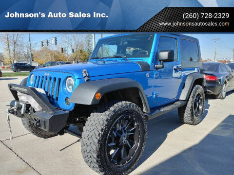 2010 Jeep Wrangler for sale at Johnson's Auto Sales Inc. in Decatur IN