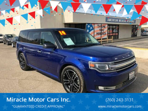 2014 Ford Flex for sale at Miracle Motor Cars Inc. in Victorville CA