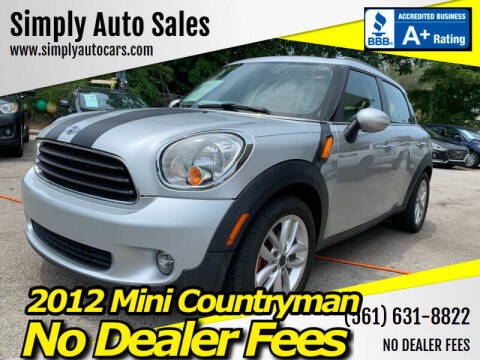 2012 MINI Cooper Countryman for sale at Simply Auto Sales in Palm Beach Gardens FL