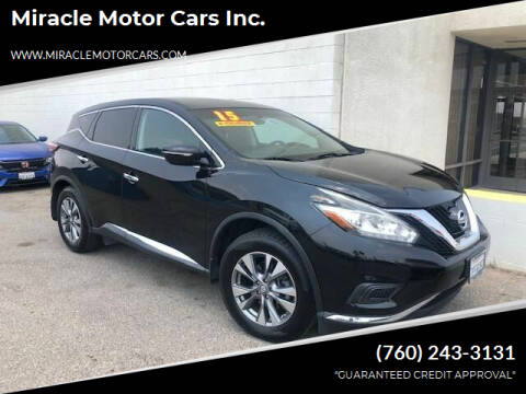 2015 Nissan Murano for sale at Miracle Motor Cars Inc. in Victorville CA