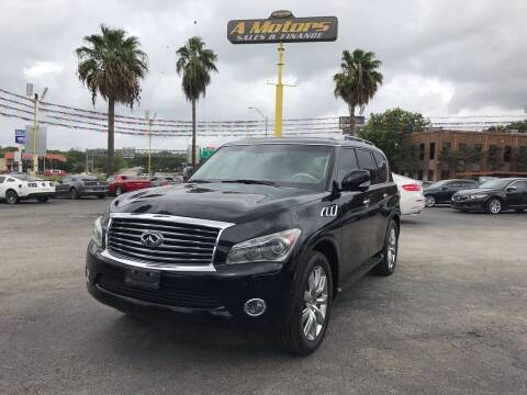 2012 Infiniti QX56 for sale at A MOTORS SALES AND FINANCE in San Antonio TX