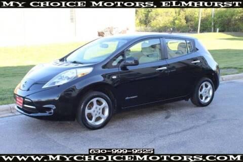 2012 Nissan LEAF for sale at My Choice Motors Elmhurst in Elmhurst IL