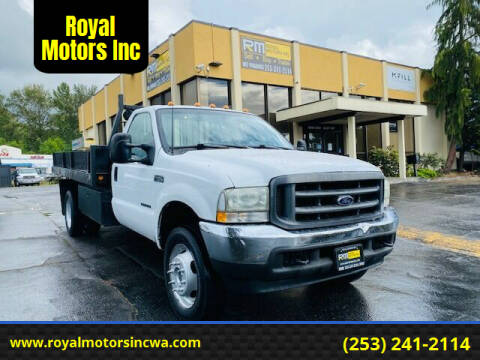 2003 Ford F-450 Super Duty for sale at Royal Motors Inc in Kent WA