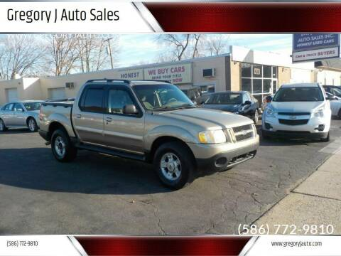 2002 Ford Explorer Sport Trac for sale at Gregory J Auto Sales in Roseville MI