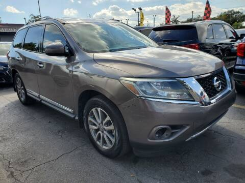2014 Nissan Pathfinder for sale at America Auto Wholesale Inc in Miami FL