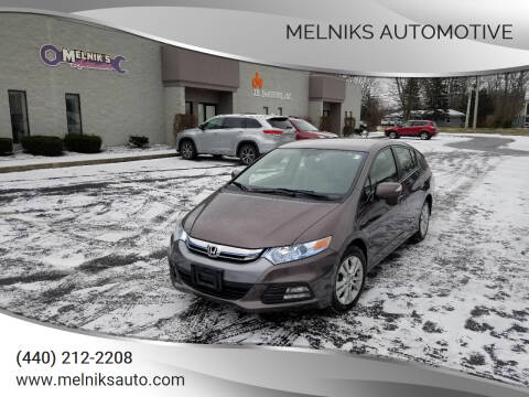 2013 Honda Insight for sale at Melniks Automotive in Berea OH