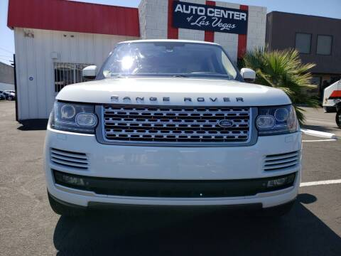 2014 Land Rover Range Rover for sale at Auto Center Of Las Vegas in Las Vegas NV
