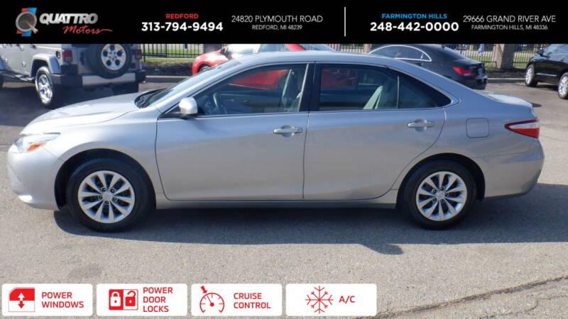 2015 Toyota Camry for sale at Quattro Motors 2 - 1 in Redford MI