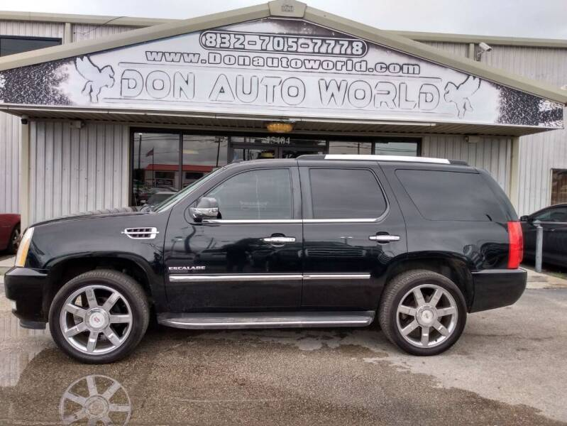 2010 Cadillac Escalade for sale at Don Auto World in Houston TX