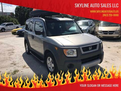 2004 Honda Element for sale at SKYLINE AUTO SALES LLC in Winter Haven FL