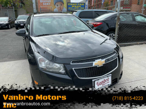 2014 Chevrolet Cruze for sale at Vanbro Motors Inc in Staten Island NY