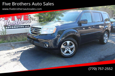 2012 Honda Pilot for sale at Five Brothers Auto Sales in Roswell GA